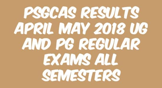 PSGCAS Results