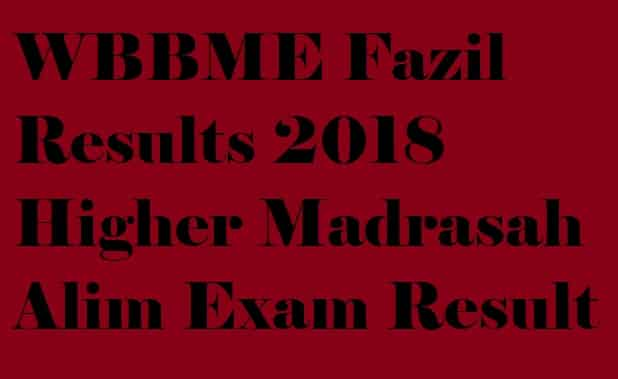 WBBME Fazil Results