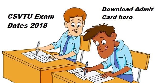 CSVTU Admit Card
