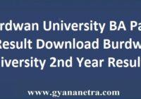 Burdwan University BA Part 2 Result Check Online