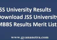 JSS University Results