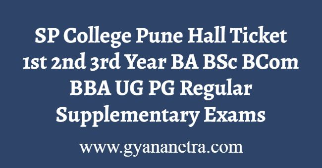 SP College Pune Hall Ticket