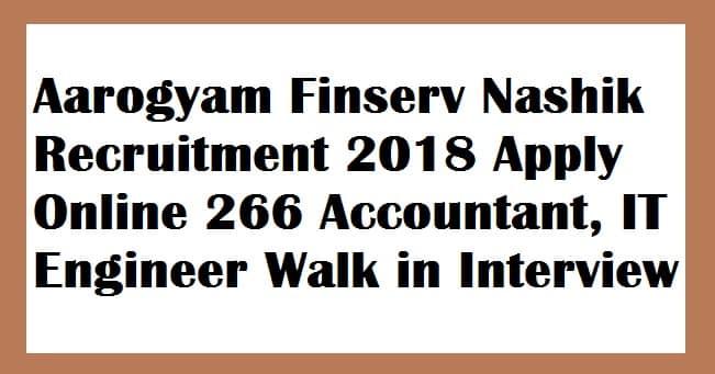 Aarogyam Finserv Nashik Recruitment