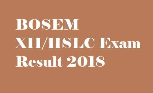 BOSEM Exam Result 2018