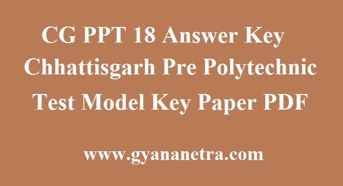 CG PPT 18 Answer Key