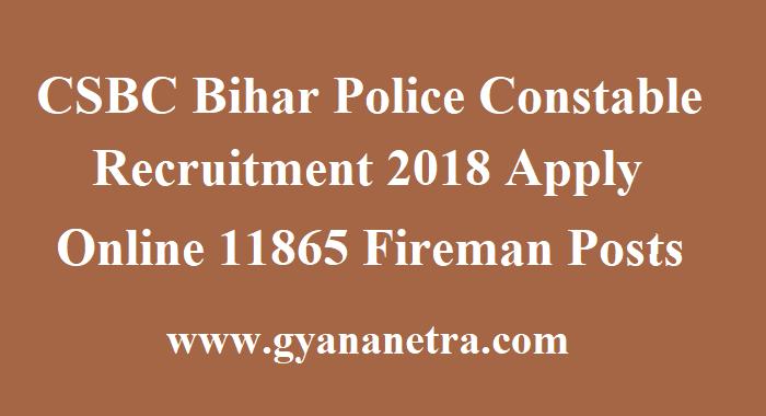 CSBC Bihar Police Constable Recruitment