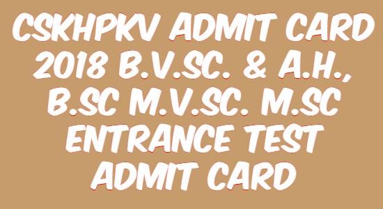 CSKHPKV Admit Card