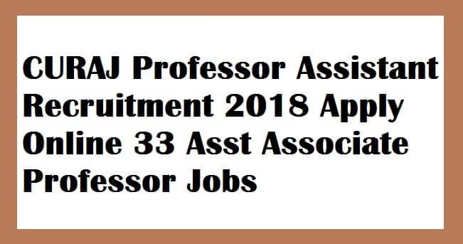 CURAJ Professor Recruitment