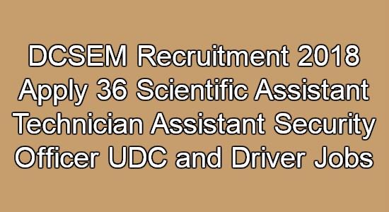 DCSEM Recruitment