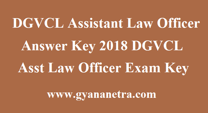 DGVCL Assistant Law Officer Answer Key