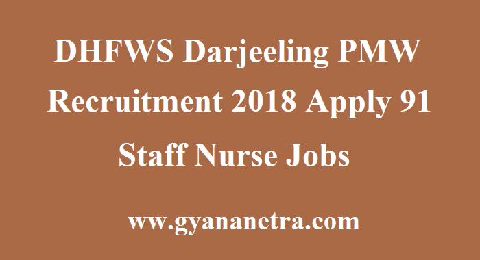 DHFWS Darjeeling PMW Recruitment