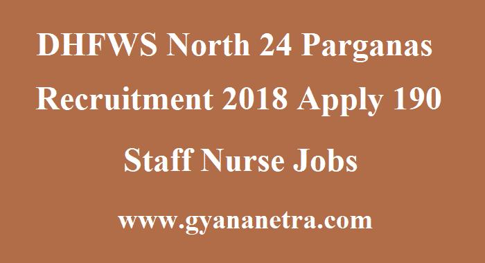 DHFWS North 24 Parganas Recruitment