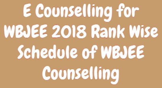 E Counselling for WBJEE 2018