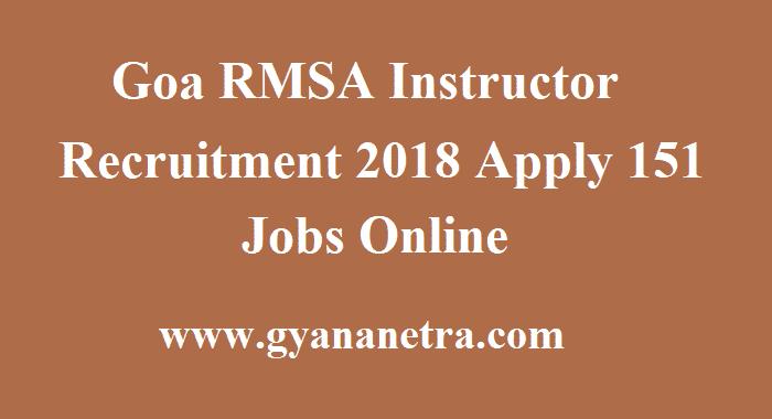 Goa RMSA Instructor Recruitment