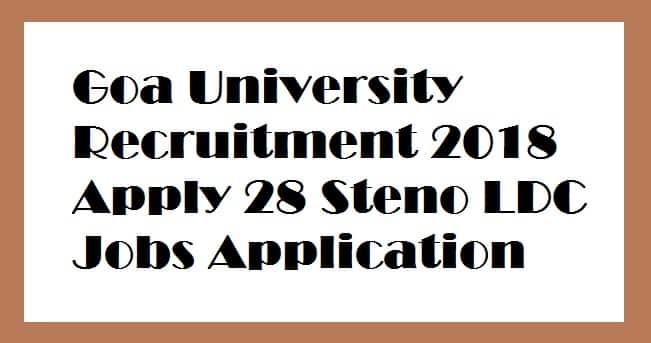 Goa University Recruitment