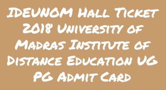 IDEUNOM Hall Ticket