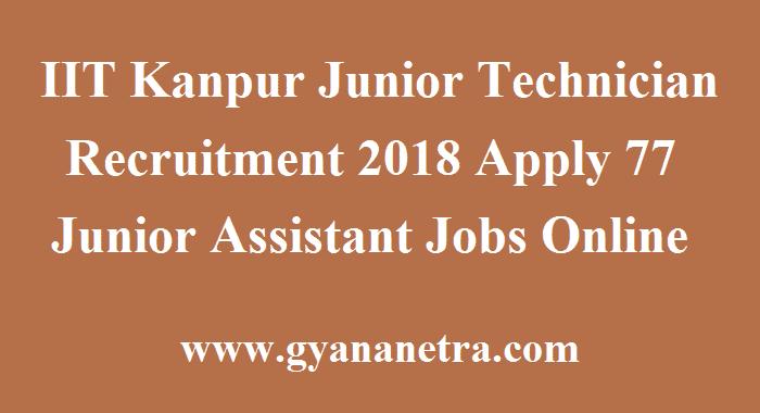 IIT Kanpur Junior Technician Recruitment