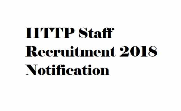 IITTP Recruitment