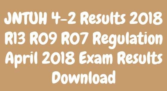 JNTUH 4-2 Results