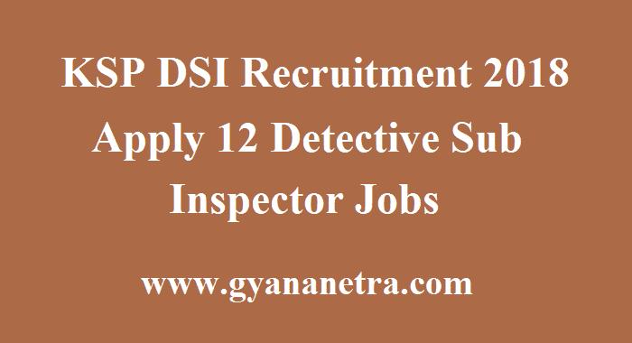 KSP DSI Recruitment