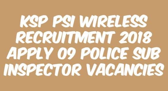 KSP PSI Wireless Recruitment