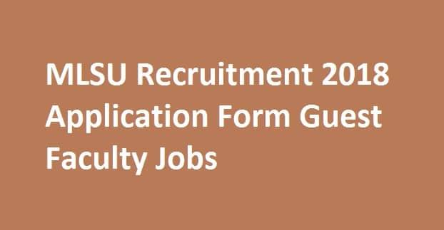 MLSU Recruitment 2018