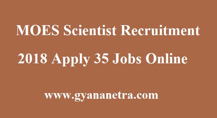 MOES Scientist Recruitment
