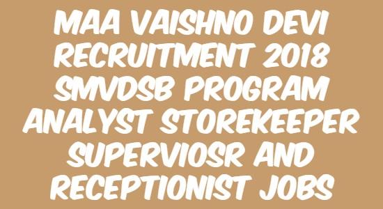 Maa Vaishno Devi Recruitment