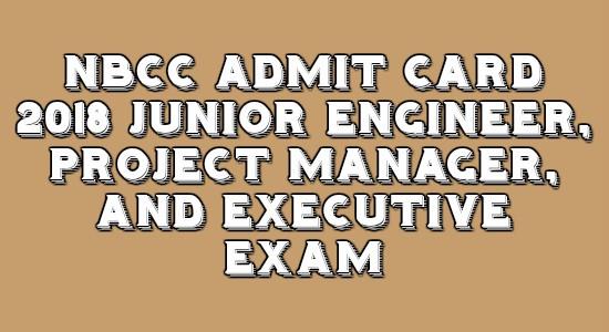 NBCC Admit Card