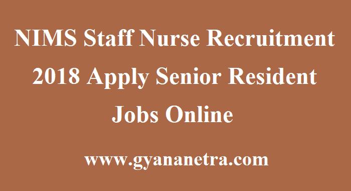 NIMS Staff Nurse Recruitment