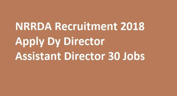NRRDA Recruitment 2018