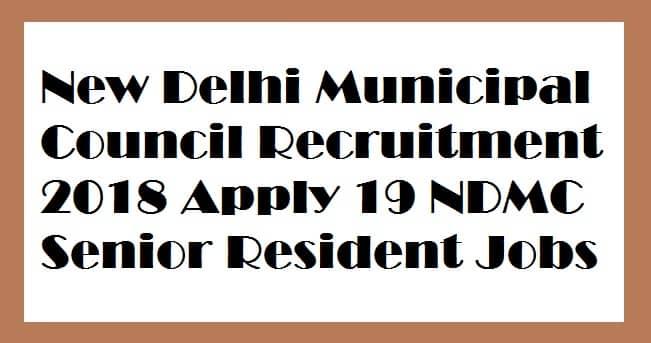 New Delhi Municipal Council Recruitment