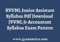 RVUNL Junior Assistant Accountant Syllabus