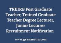 TREIRB PGT TGT JL DL Recruitment Notification