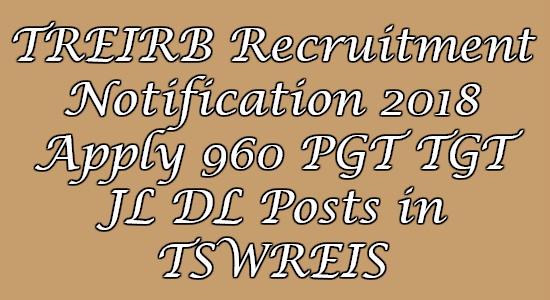 TREIRB Recruitment Notification