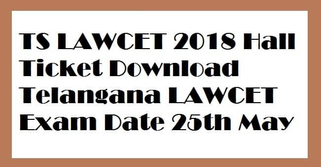 TS LAWCET 2018 Hall Ticket