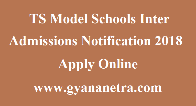 TS Model Schools Inter Admissions Notification