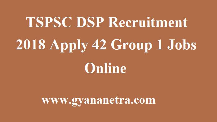 TSPSC DSP Recruitment