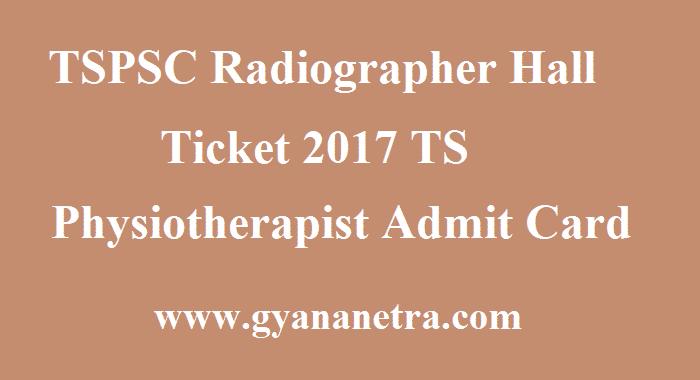 TSPSC Radiographer Hall Ticket