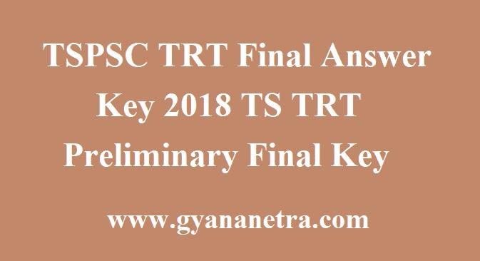 TSPSC TRT Final Answer Key