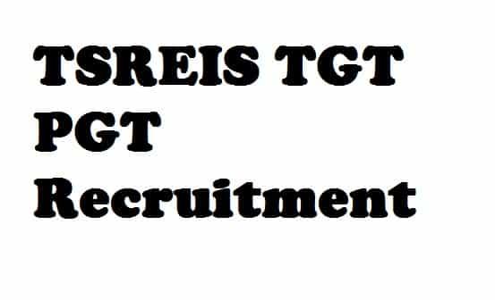 TSREIS Recruitment 2018