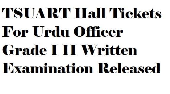 TSUART Hall Tickets 2018