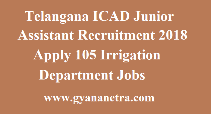 Telangana ICAD Junior Assistant Recruitment
