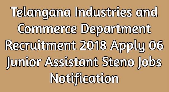 Telangana Industries and Commerce Department Recruitment