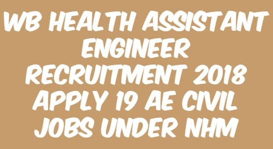 WB Health Assistant Engineer Recruitment