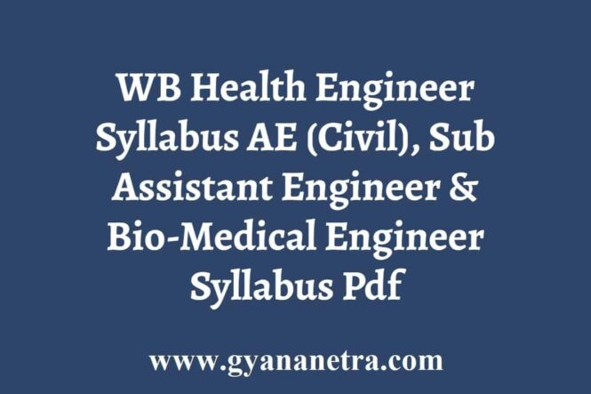 WB Health Engineer Syllabus Exam Pattern
