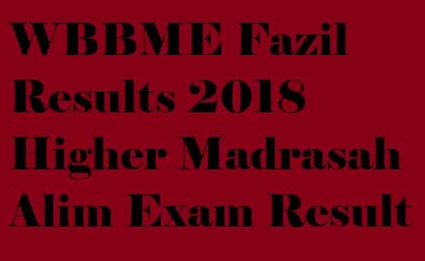 WBBME Fazil Results