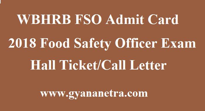 WBHRB FSO Admit Card