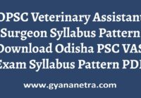 OPSC Veterinary Assistant Surgeon Syllabus Pattern
