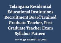 Telangana TGT PGT Syllabus Exam Pattern